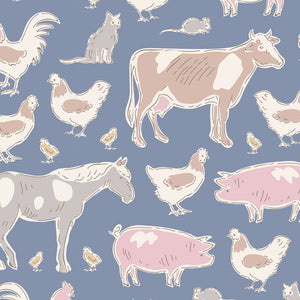 PRE-ORDER Tilda Tiny Farm Animals Blue  - 110013 - Stitches from the Bush