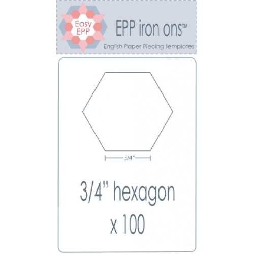 "3/4"" Hexagon EPP Iron On Papers - Stitches from the Bush"