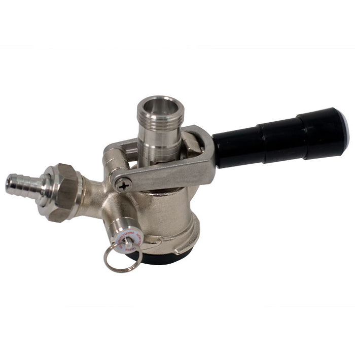 "CBS ""D"" System Keg Coupler with 304SS Probe"