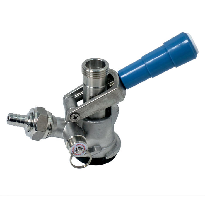 "CBS ""D"" System Keg Coupler with 304SS Body & Probe"