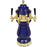Cobalt Blue Ceramic 4 Tap Glycol Tower - Gold Accents