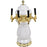 Pearl White Ceramic 4 Tap Glycol Tower - Gold Accents