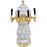White Marble Ceramic 4 Tap Glycol Tower - Gold Accents