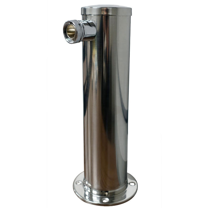 "Polished 304SS Single Oulet Beer Tower - 3"" Column"