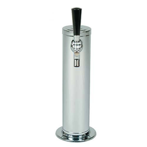 "Polished 304SS 1 Tap Beer Tower - 3"" Column ""ALL SS"""