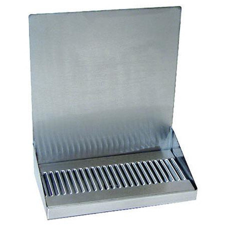 "12"" Brushed Stainless Steel Wall Mount Drip Tray"