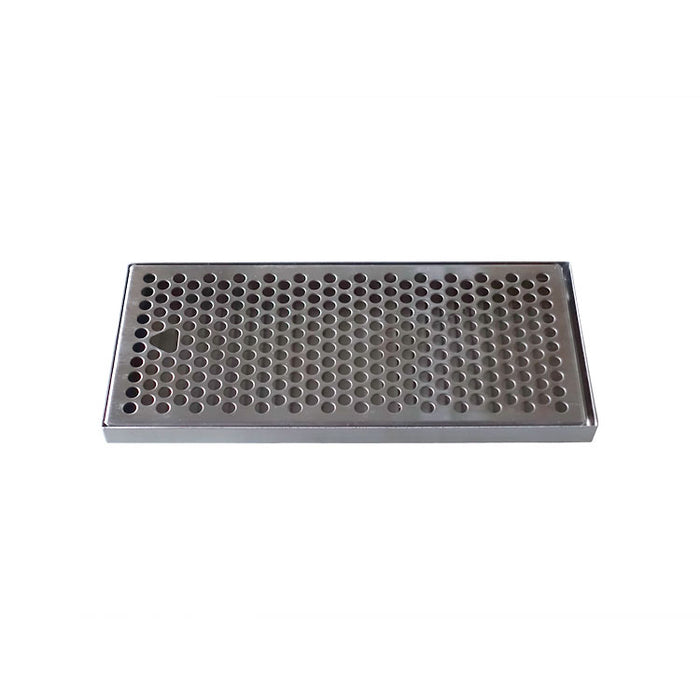 "12"" x 5-3/8"" Brushed Stainless Steel Drip - No Drain"