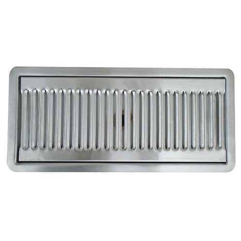 "12"" x 5"" Brushed Stainless Steel Flush Mount Drip Tray"