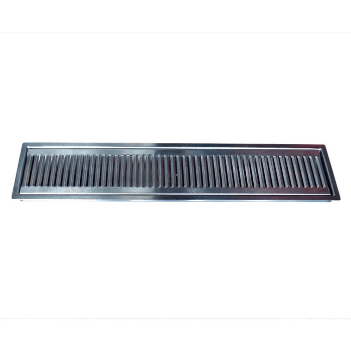 "24"" x 5"" Brushed Stainless Steel Flush Mount Drip Tray"