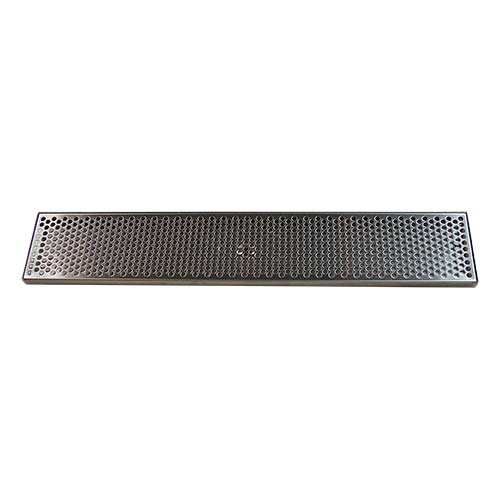 "30-1/4"" x 5-3/8"" Brushed Stainless Steel Drip Tray with Drain"
