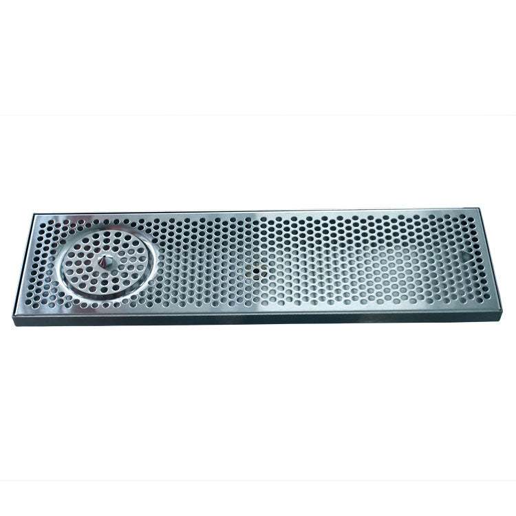 "24"" x 7"" Brushed Stainless Steel Spray Drip Tray"