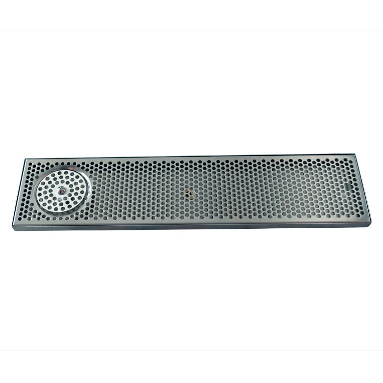 "30"" x 7"" Brushed Stainless Steel Spray Drip Tray"