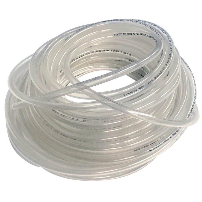 "NSF Certified 3/8""ID Clear Flexible Total Barrier Tubing by the Foot"