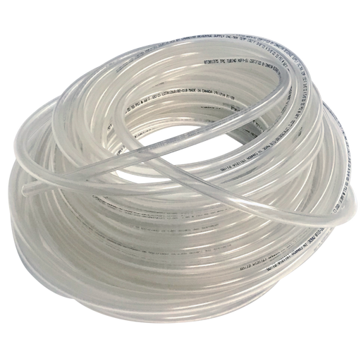 "NSF Certified 3/16""ID Clear Flexible Total Barrier Tubing - 100' Coil"