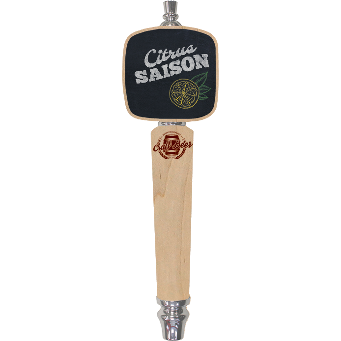 Craft Beer Branded Natural Paddle Conical Chalkboard Tap Handle