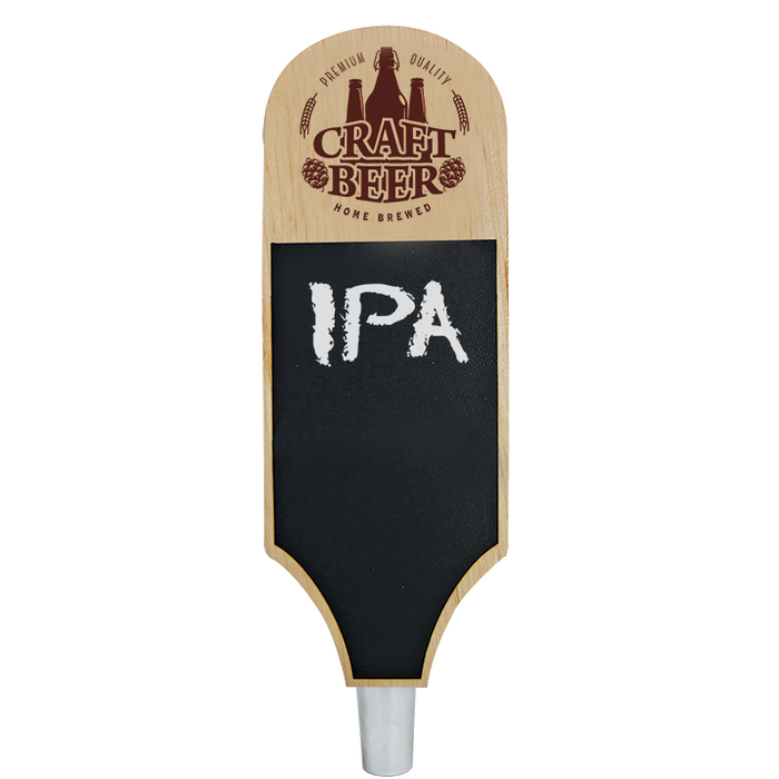 Craft Beer Branded Natural Outrigger Chalkboard Tap Handle
