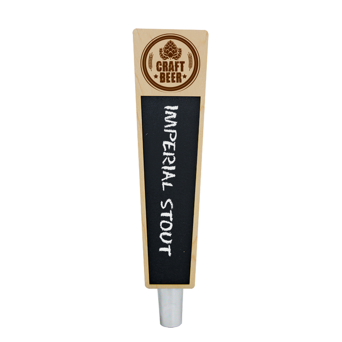 Craft Beer Branded Natural Mini Trap-Z Chalkboard Tap Handle