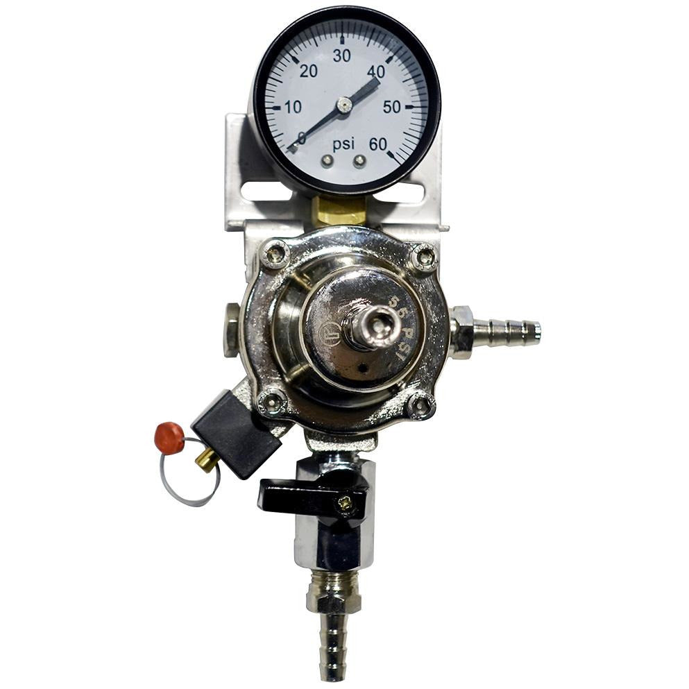 Premium Metal 60lb Secondary Regulator with Barbed Shut-Off