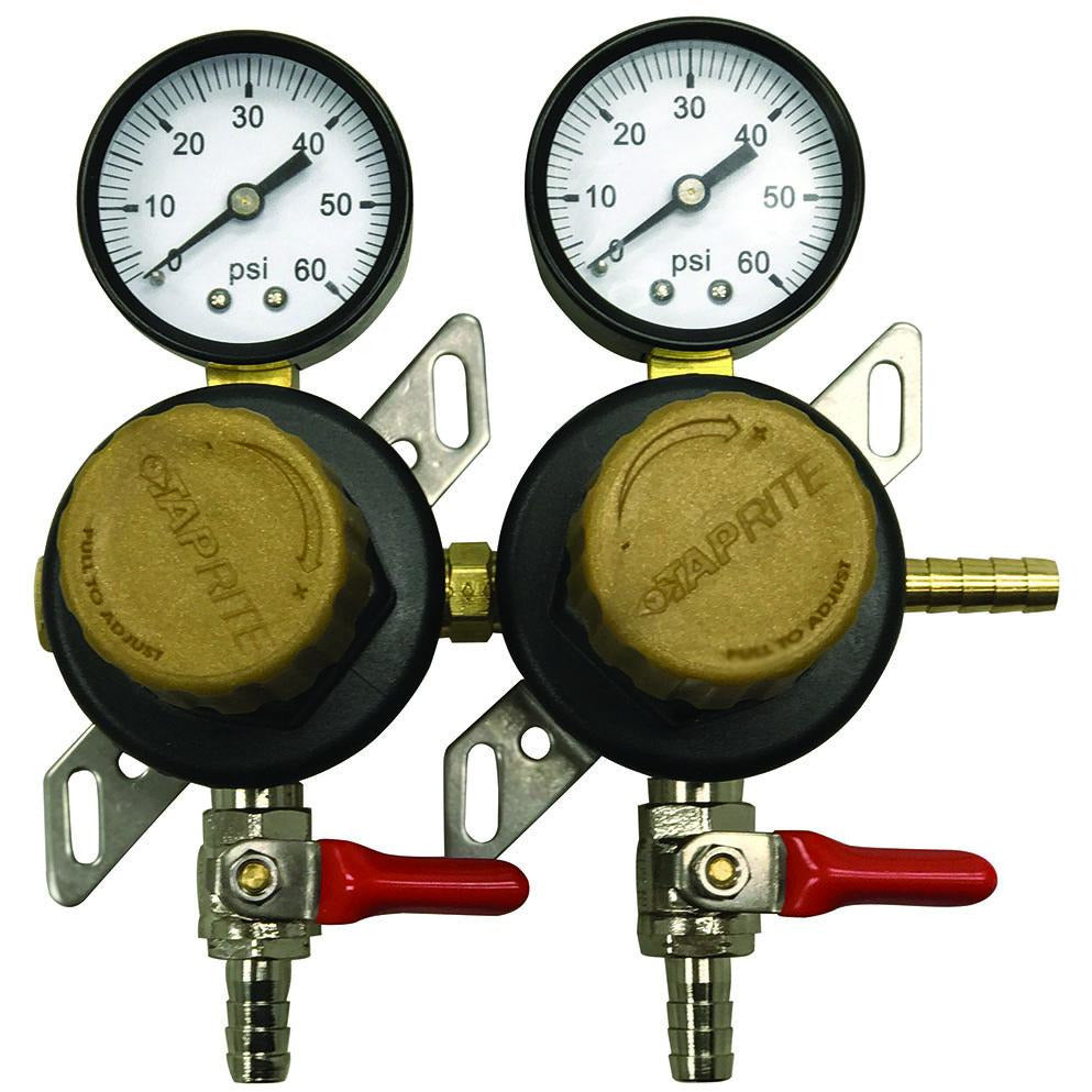Taprite 2 Pressure 60lb Secondary Regulator with Barbed Shut-Offs