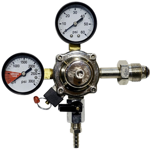 Premium Metal 60lb N2 Primary Regulator with Barbed Shut-Off