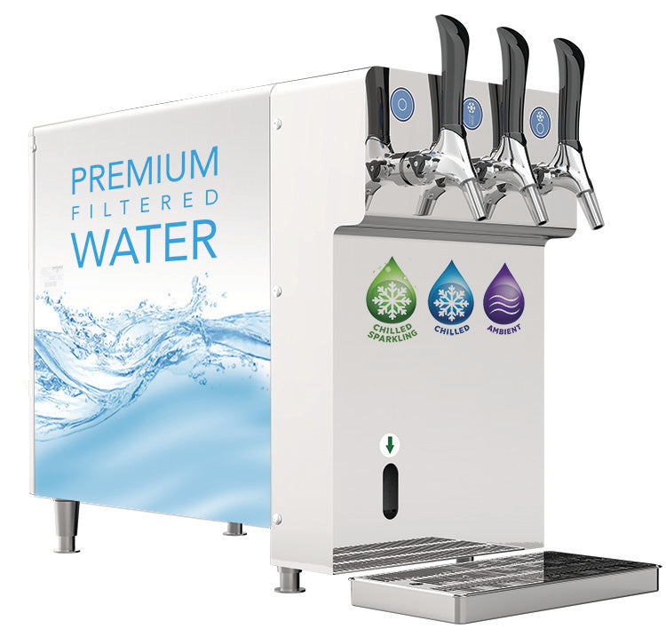 Vinyl Graphic Wraps on a Crystal Premium Filtered Water Dispenser