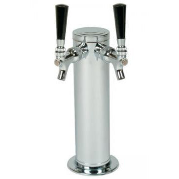 "Polished 304SS 2 Tap Beer Tower - 3"" Column"