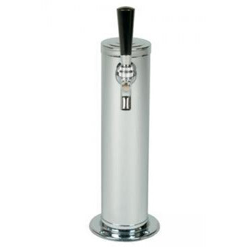 "Polished 304SS 1 Tap Beer Tower - 3"" Column"