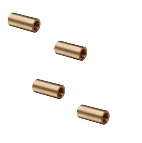 "Bunting Bearings, [Pack of 4] Bronze Spanner Bunting Bushing 9/16"" to 13/32"" ID x 1-5/8"" Long"