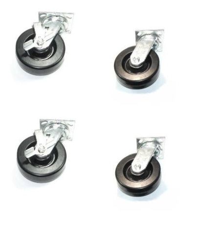 "Albion, Set of 4 Heavy Duty Albion 16 Series Swivel Casters with 6"" x 2"" Phenolic Wheel"