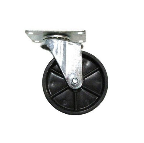 "Superior Brand, One Swivel Caster and 4"" x1"" Hard Wheel and 2-1/2"" x 3-5/8"" Top Plate 75lb Cap"