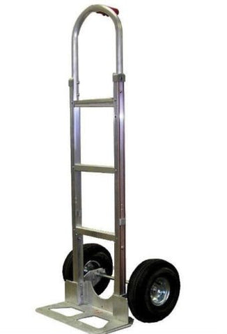 "Liberator, 52"" Tall Hand Truck with Single Grip Handle 18"" Nose 10"" Pneumatic Tire"