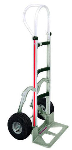 "Modular, Curved Frame 52"" Vertical Loop Handle 18"" Nose 10"" Tire Hand Truck Stair Climber"