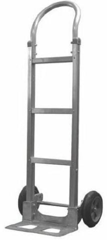 "Liberator Brand, Aluminum Hand Truck 48"" Tall with 10"" x 2"" Balloon Cushion Wheels"