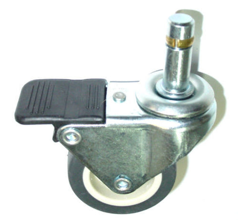 "Superior Brand, Swivel Stem Caster Soft Rubber Non-Marring Wheel and 7/16"" Brass Grip Ring Stem"