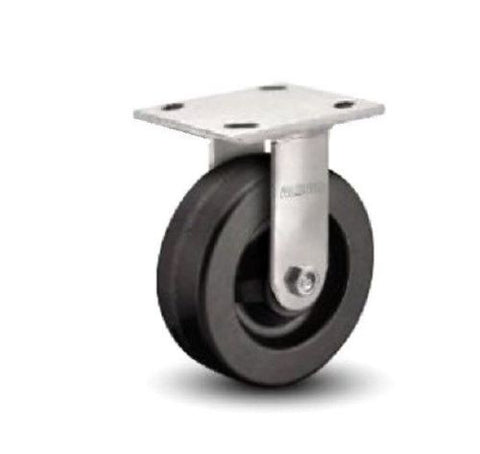 "Albion, One Albion 16 Series Phenolic Rigid Caster with 5"" x 2"" Wheel 800# Cap"