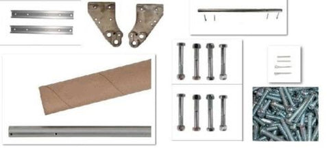 "Modular Parts, Universal Fit Aluminum for Hand Trucks using 10"" Wheels Hardware Kit 18"" Long"