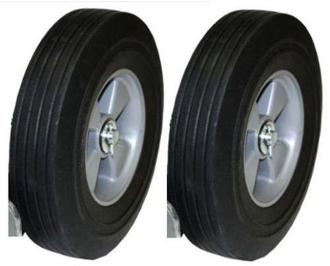 "Superior Brand, Set of 2 Hand Truck Tires Semi Pneumatic 10"" x 2-3/4"" Wheel with 5/8"" ID"