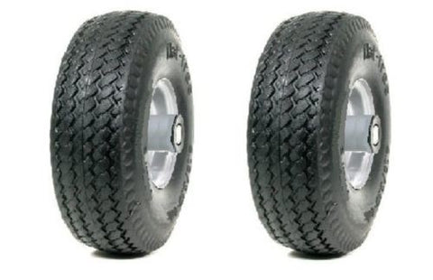 "Ever Roll, (Pack of 2) Offset Hub Never-Flat Hand Truck Tire 10"" x 35"" with 5/8"" ID Bearing"