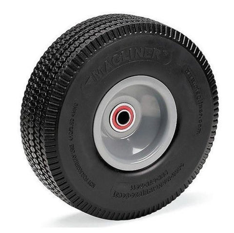 "Durable Superior, Magliner Offset Hub Hand Truck Tire 10""x3-1/2"" w 5/8"" ID Flat Free Care Free One"
