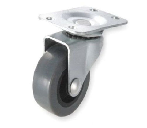 "Superior Brand, One Swivel Plate Caster with 3"" Gray Non Marking Wheel with 125 lb. Rating"