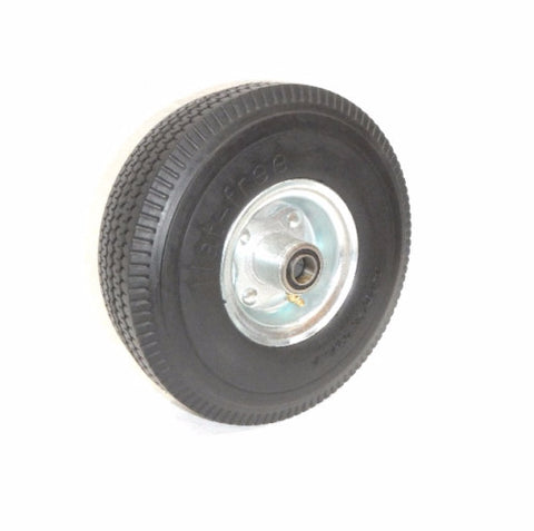 "(Four) CareFree Hand Truck Tires with Offset Hubs 10"" Flat Free Wheels"