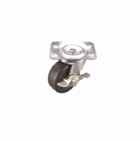 "Superior Brand, Swivel Plate Caster 2"" x 7/8"" Hard Wheel (2-1/2"" x 1-7/8"" Plate) with Brake"