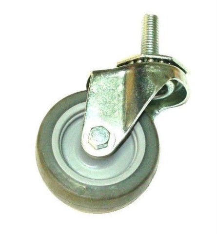 "Superior Brand, One Swivel Caster w/ Soft Gray Wheel with 1/2"" - 13 x 1-3/8"" Threaded Stem"
