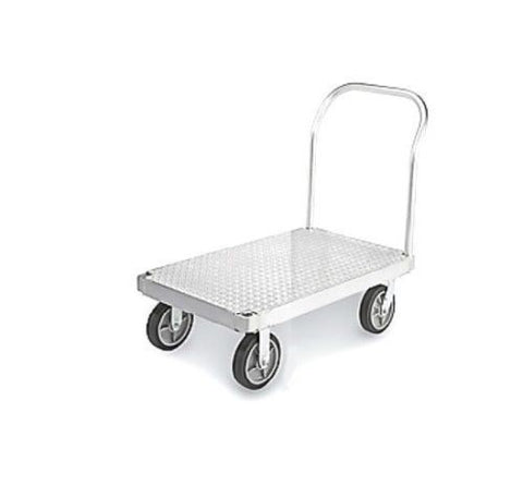 USA Made, Platform Truck with Diamond Tread Plate Includes 4 Casters and Handle