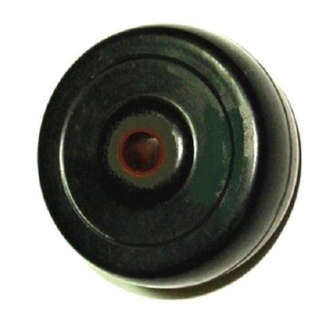 "Superior Brand, Hard Rubber Wheel with 5/16"" ID Plain Bore Bearing 2"" Diameter x 7/8"" Wide Wheel"