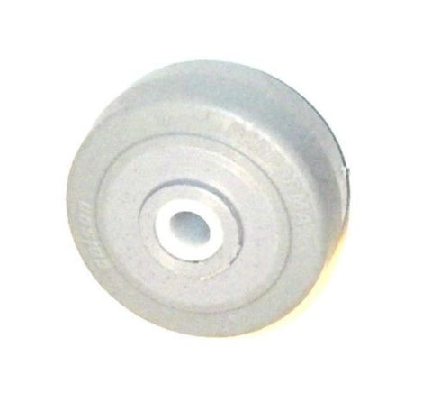 "Colson, Colson 2"" x 7/8"" Soft Rubber Wheel with 5/16"" ID Gray 75# Cap."