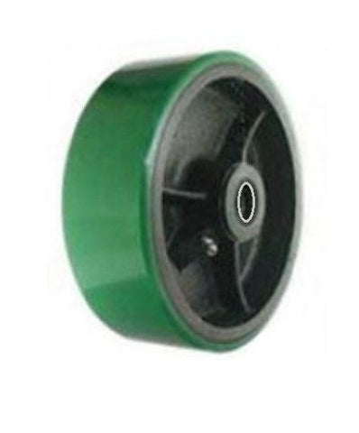 "Superior Brand, Durable 6"" x 1-1/2"" Polyurethane Wheel with 1/2"" ID Green / Superior Brand"