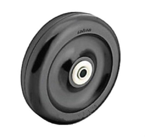 "Colson, Hard Polyolefin Wheel 5"" Dia x 1-1/4"" Wide with 3/8"" Plain Bearing With Sleeve"