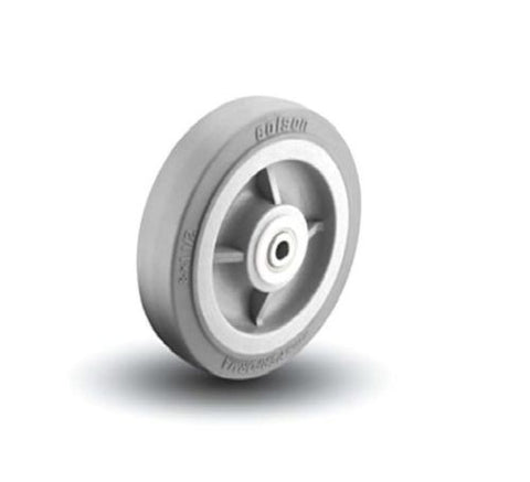 "Colson, Colson Performa Rubber Wheel 8"" x 1-1/2"" Soft Gray Non-Marring Wheel and 5/8"" ID"