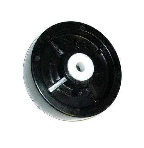 "Narrow Profile, Boat Trailer / Wet Environment Solid Polyolefin 5"" x 1-1/2"" Wheel and 1/2"" ID"
